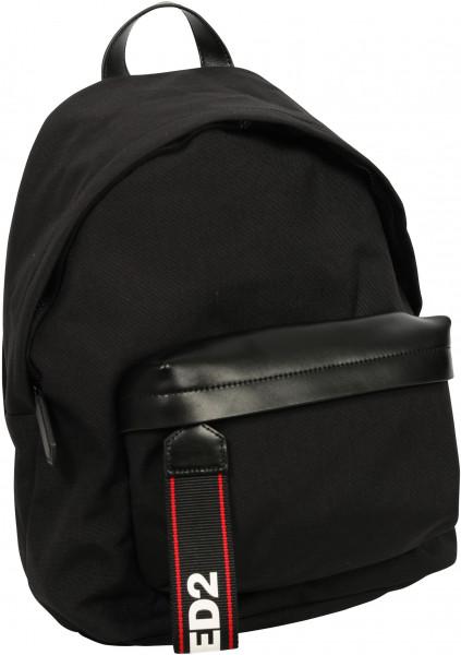 Men's Dsquared Nylon Backpack Black