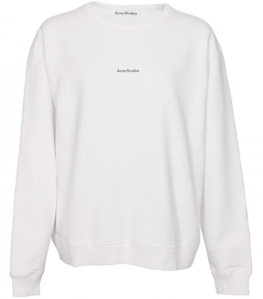 Women's Acne Studios Sweatshirt Fierre Stamp White