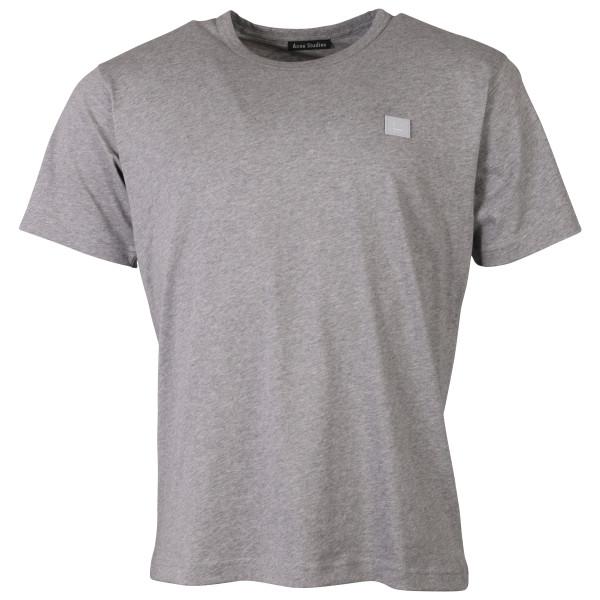 Unisex Acne Studios T-Shirt Nash Face Light Grey Melange
