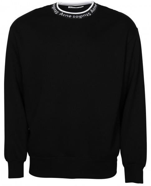 Acne Studios Sweatshirt Fulton Logo Rib Black