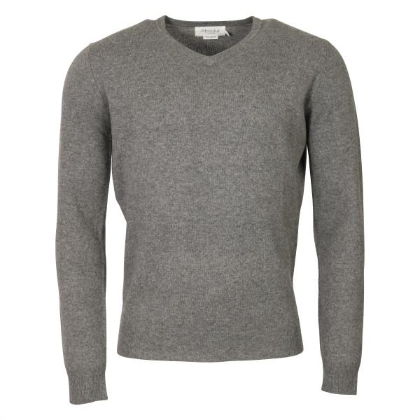 Men's Absolut Cashmere V-Neck Pullover Grey