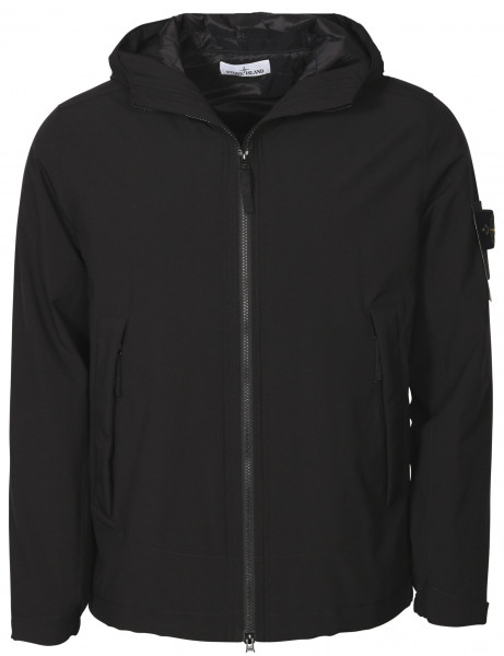 Men's Stone Island Softshell Jacket With Primaloft Insulation Black