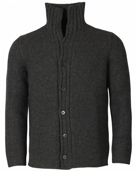 Men's AIDA BARNI Cashmere Knit Cardigan Dark Grey Melange
