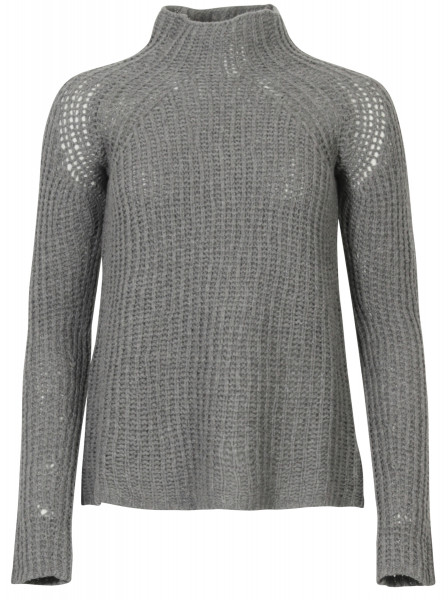 Transit Par Such Pulli Turtle Neck Wolle grau