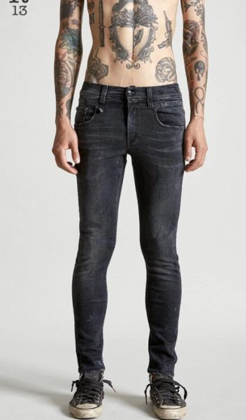 Men's R13 Jeans Boy Black Marble