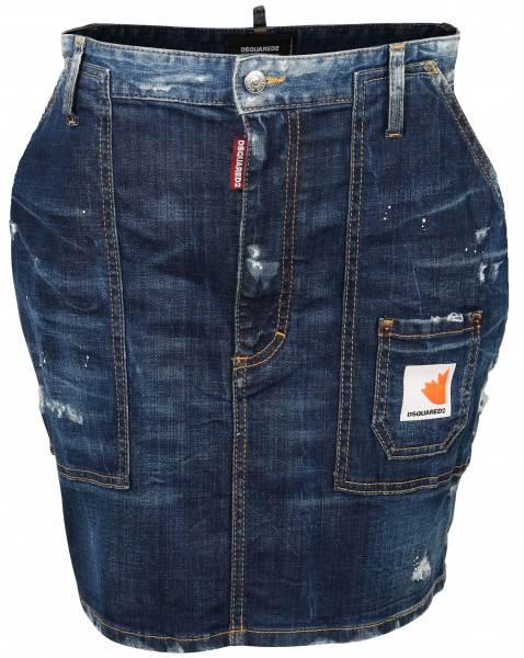 Women's Dsquared Denim Skirt Blue Washed