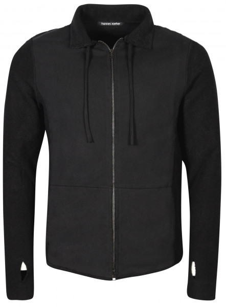 Men's Hannes Roether Sweat Zip Cardigan Black