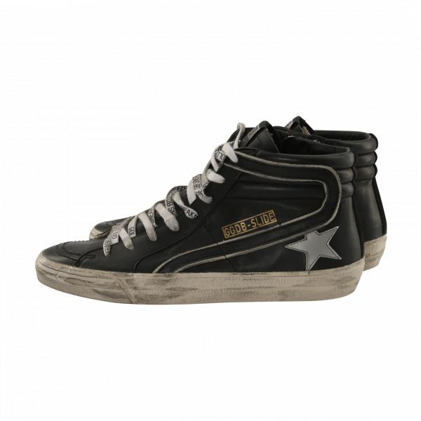 Men's Golden Goose Sneaker Slide Black/Silver
