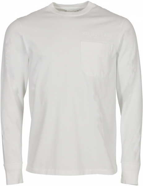 Men's Helmut Lang Pocket Longsleeve White