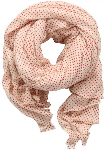 PIN1876 Cashmere/Silk Scarf Red Points