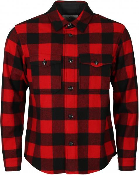 Men's Woolrich Alaskan Buffalo Overshirt Red Check