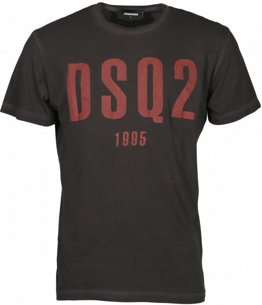 Men's Dsquared T-Shirt Grey Printed