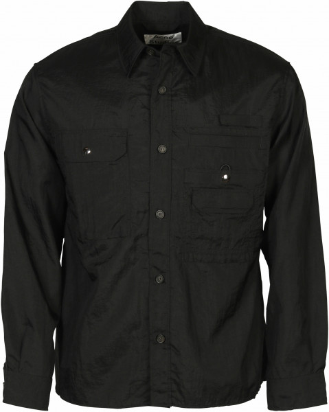 Men's Acne Studios Overshirt Orallo Black Nylon
