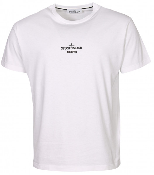 Men's Stone Island Archivo T-Shirt White Printed