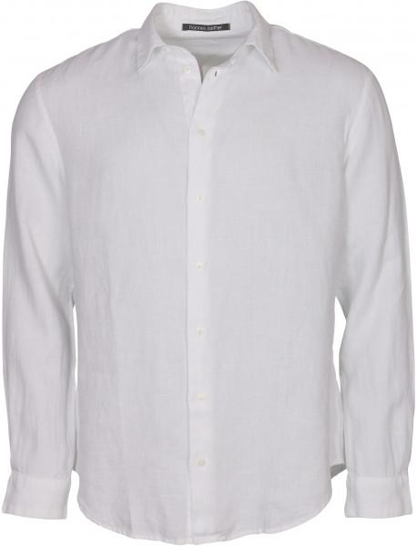 Men's Hannes Roether Linen Shirt White