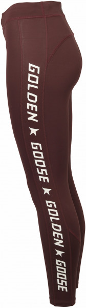 Women's Golden Goose Leggings Nori Burgundy