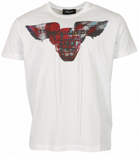 Men's Dsquared T-Shirt White Printed