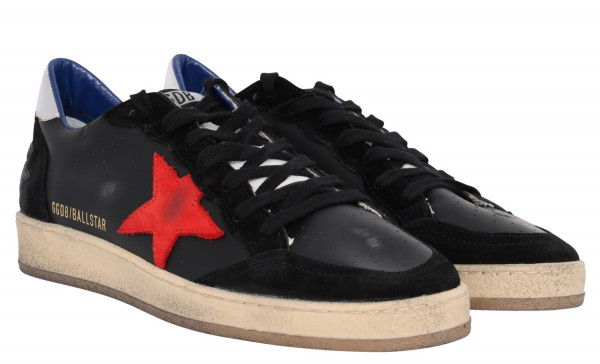 Men's Golden Goose Sneaker Ballstar Black/Red