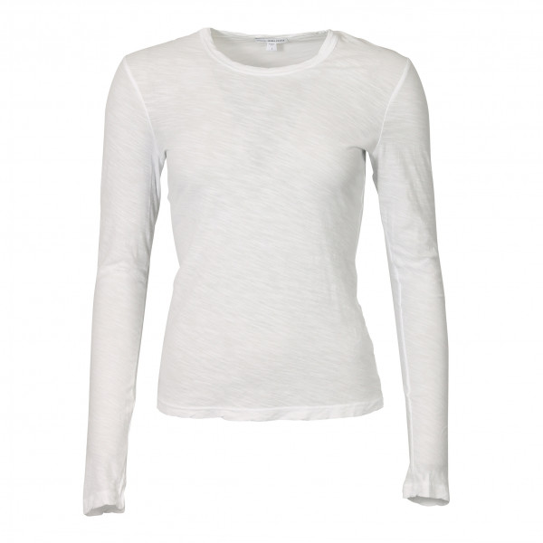 Women's James Perse Longsleeve Crew Neck White