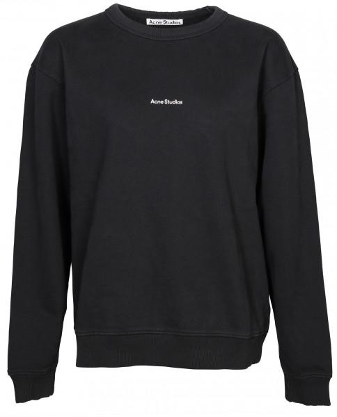 Women's Acne Studios Sweatshirt Fierre Stamp Washed Black
