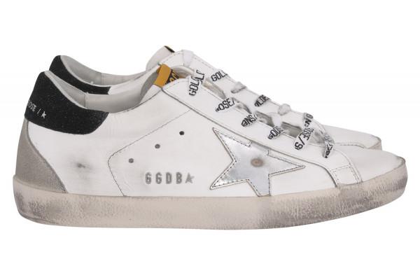 Women's Golden Goose Sneaker Superstar Leather Upper Laminated Star Lettering