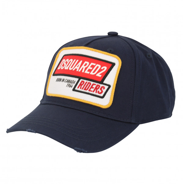 Men's Dsquared Baseball Cap Navy Patched