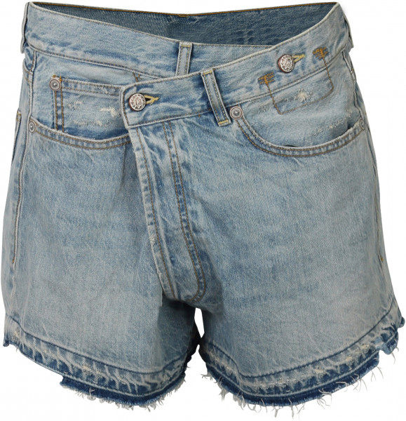 Women's R13 Cross Over Shorts Light Blue