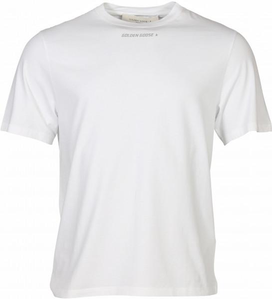 Men´s Golden Goose T-Shirt Golden White/Silver Printed