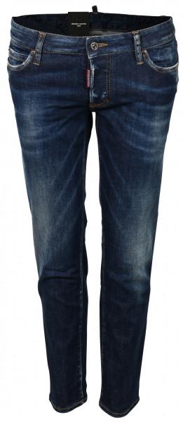 Women's Dsquared Jeans Jennifer Cropped Blue Washed