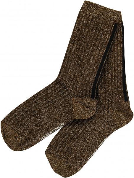 Women's Isabel Marant Lurex Socks Lily Gold