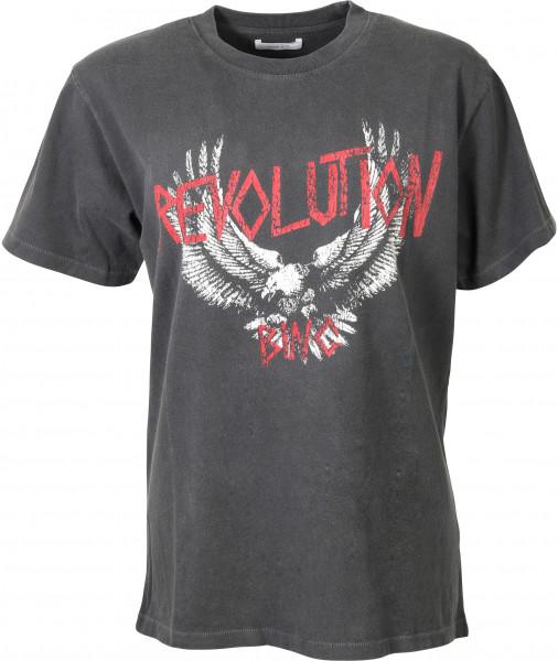 Women's Anine Bing T-Shirt Lili Washed Black