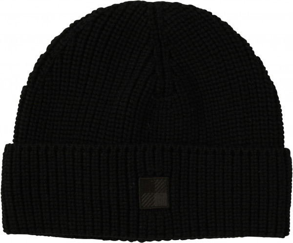Men's Woolrich Logo Beanie Black