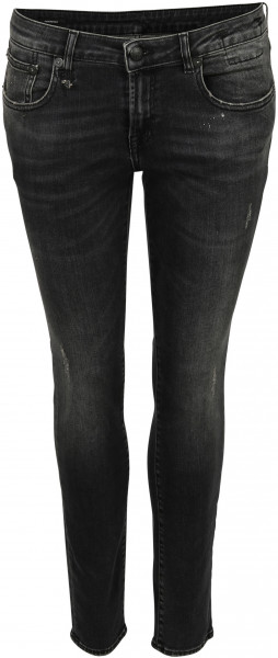 Women's R13 Jeans Kate Skinny Orion Black Wash