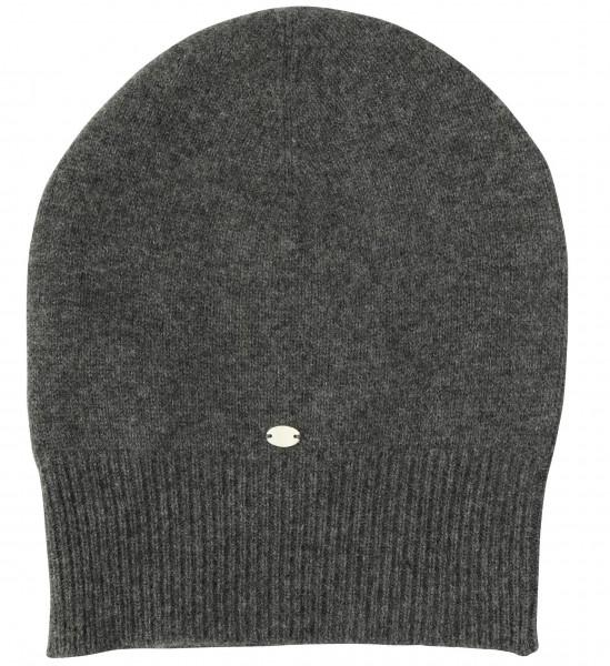 Men's Friendly Hunting Cashmere Cap Dark Grey Melange