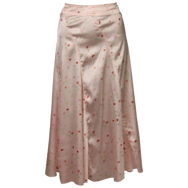 Women's Ganni Silk Skirt Pink Printed