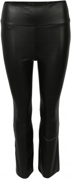 Women's SPRWMN Cropped Flare Lamb Leather Legging