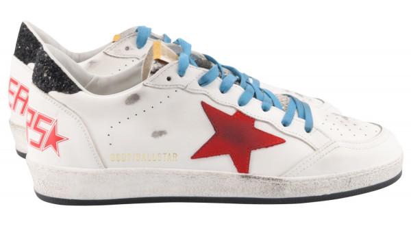 Men's Golden Goose Sneaker Ballstar Phyton Tongue White/Red/Blue/Black