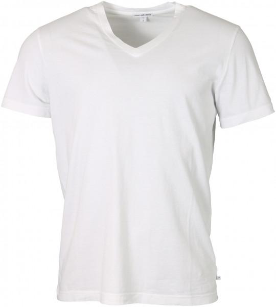 Men's James Perse T-Shirt V-Neck White