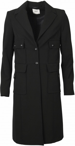 Women's Summum Coat Gabardine Stretch black