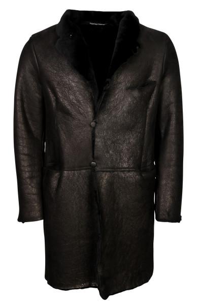 Men's Hannes Roether Shearling Coat Black