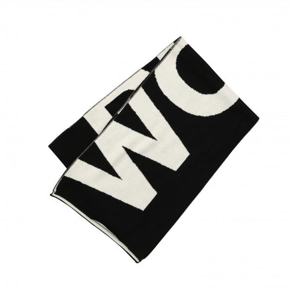 Woolrich Piquet Wool Logo Scarf