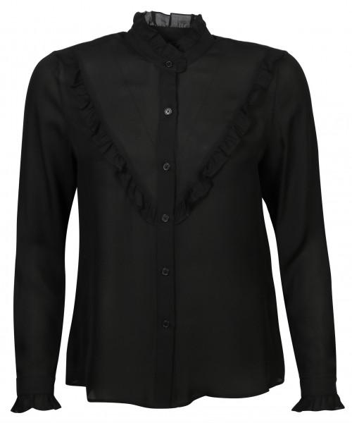 Women's Nili Lotan Silk Shirt Marcela Black