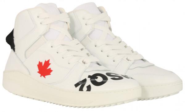 Men's Dsquared Baseball Sneaker White/Black/Red