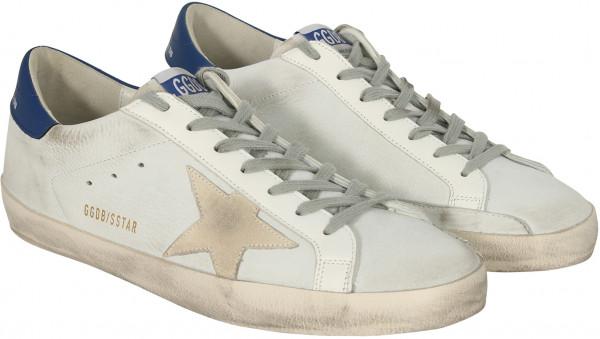 Men's Golden Goose Superstar White Nabuk/Cream Star