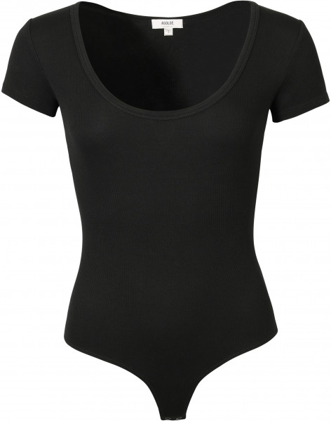 Women's Agolde Rib Shortsleeve Body Black