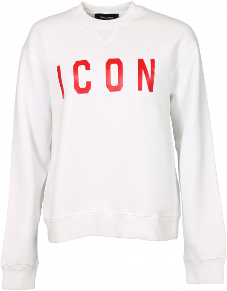 Women's Dsquared Sweatshirt White Printed