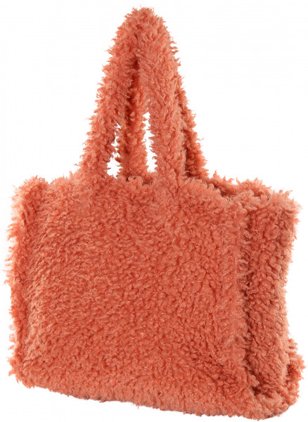 Women's Stand Studio Fake Fur Bag Lola Coral