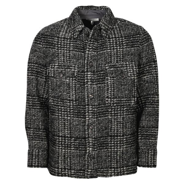 Men's Isabel Marant Check Overshirt Gervon Black/Grey