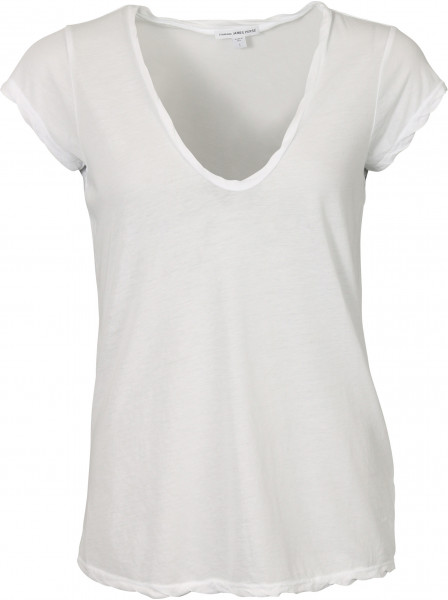 Women's James Perse T-Shirt V Neck White
