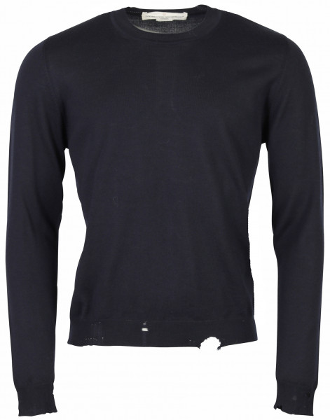 Men's Golden Goose Crewneck Knit Sweater Shin Navy